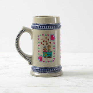 50th Golden Wedding Anniversary Beer Stein