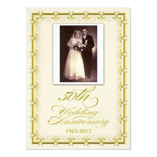 50th Golden Wedding Anniversary Celebration Photo Card