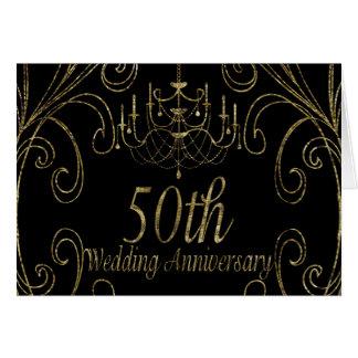 50th Golden Wedding Anniversary Chandelier Card