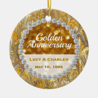 50th Golden Wedding Anniversary Christmas Keepsake Christmas Ornament