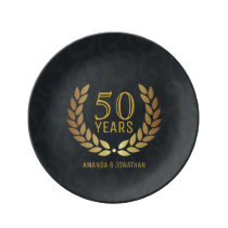 50th Golden Wedding Anniversary Commemorative Plate