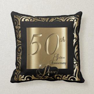 50th Golden Wedding Anniversary Cushion