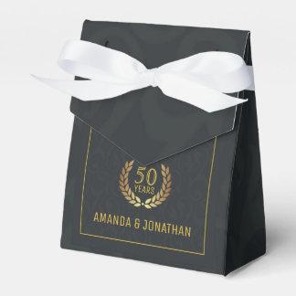50th Golden Wedding Anniversary Customizable Favour Box