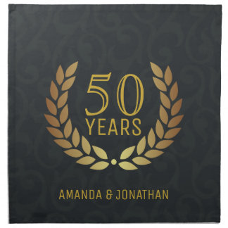 50th Golden Wedding Anniversary Customizable Napkin