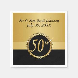 50th Golden Wedding Anniversary Disposable Serviette
