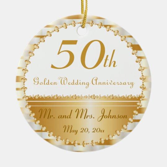 50th Golden Wedding Anniversary | DIY Name &