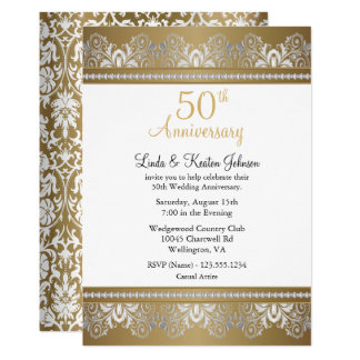 50th Golden Wedding Anniversary | DIY Text Card