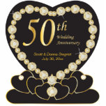 50th Golden Wedding Anniversary | DIY Text Standing Photo Sculpture