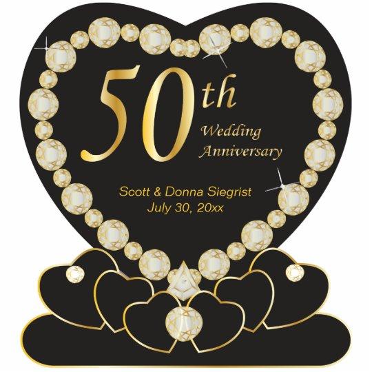 50th Golden Wedding Anniversary | DIY Text Standing