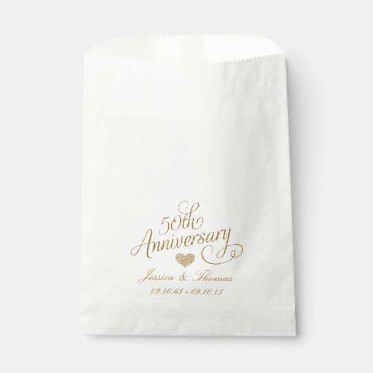 50th Golden Wedding Anniversary Favour Bag
