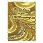 50th Golden Wedding Anniversary Greeting Card