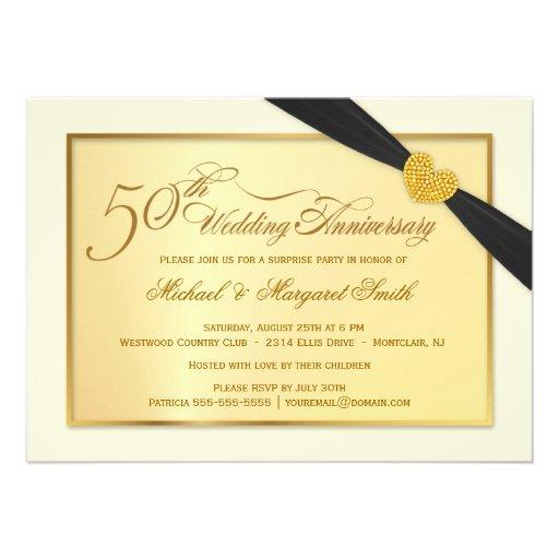 Th golden wedding anniversary invitations cm