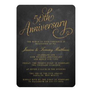 50th Golden Wedding Anniversary Invitations