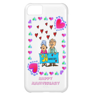 50th golden wedding anniversary, iPhone 5C case