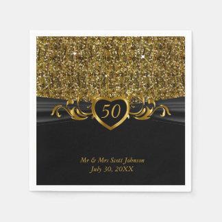 50th Golden Wedding Anniversary Paper Napkin