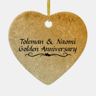 50th Golden Wedding Anniversary | Personalized Christmas Ornament