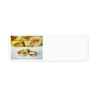 50TH Golden Wedding Anniversary Return Address Label