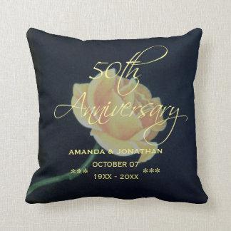 50th Golden Wedding Anniversary Rose Cushion