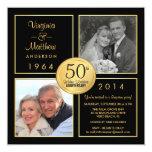 50th Golden Wedding Anniversary Surprise Party 13 Cm X 13 Cm Square Invitation Card