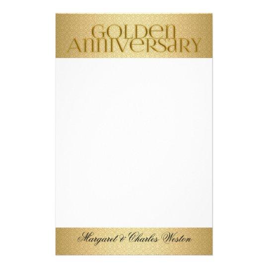 50th Golden Wedding Annivsersary Custom Stationery