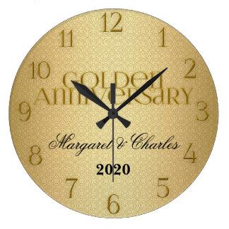 50th Golden Wedding Annivsersary Custom Wall Clocks