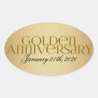 50th Golden Wedding Annivsersary Stickers