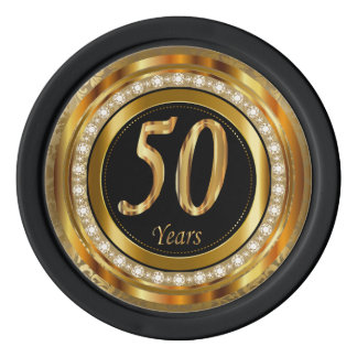50th Golden Years Anniversary Poker Chips Set