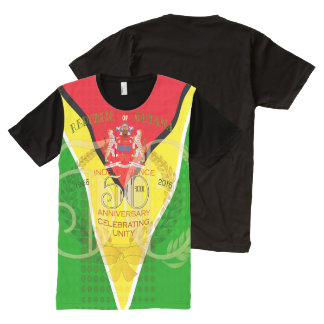 50th Independence Anniversary Guyanese Men's Ameri All-Over Print T-Shirt