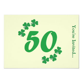 50th Irish Birthday Party Invitation