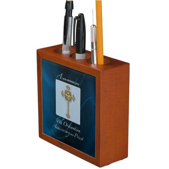 50th Jubilee Ordination Anniversary of Priest Desk Organiser