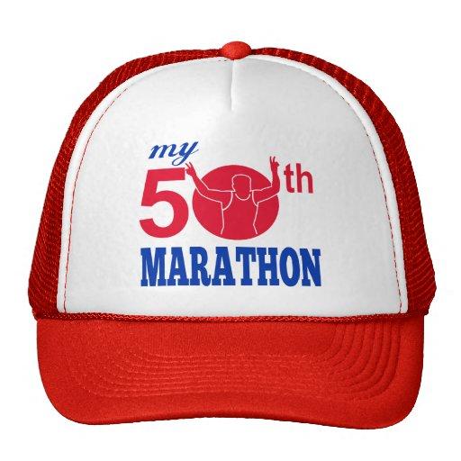 50th marathon run race runner mesh hat