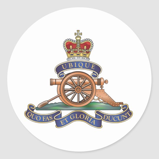 50th Missile Regiment Royal Artillery Classic Round Sticker