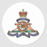 50th Missile Regiment Royal Artillery Round Stickers