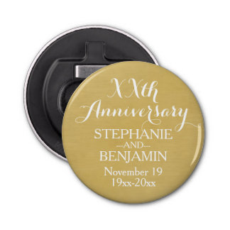 50th or Other Wedding Anniversary Personalized Bottle Opener