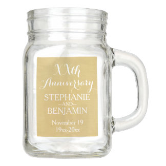 50th or Other Wedding Anniversary Personalized Mason Jar