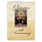 50th Ordination Anniversary Angels at Altar Card