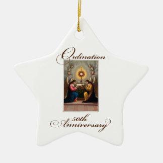 50th Ordination Anniversary Angels at Altar Christmas Ornament