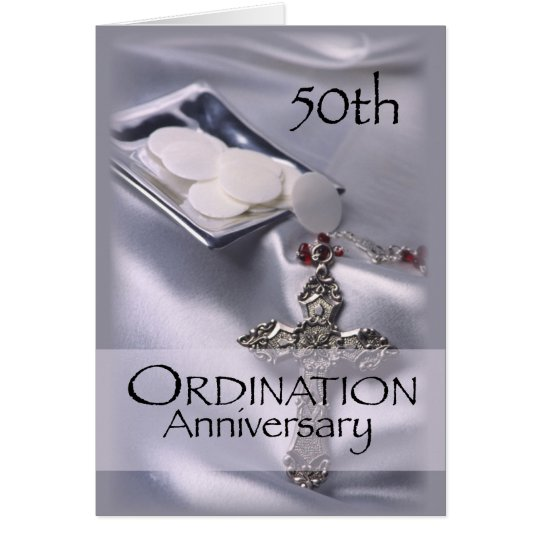 50th Ordination Anniversary with Cross & Hosts in