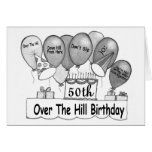 50th Over The Hills Birthday Cards