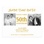 50TH SAVE THE DATE POST CARDS