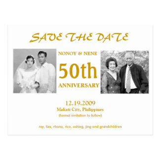 50TH SAVE THE DATE POSTCARD