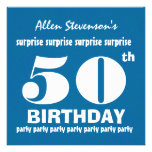50th SURPRISE Birthday Party Blue White V02
