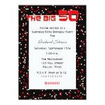 50th Surprise Birthday Party invitation - Confetti