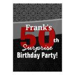 50th Surprise Birthday Red Black White Metallic