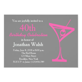 50th Surprise Martini Birthday Invitation