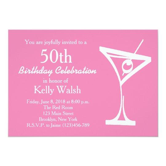 50th Surprise Martini Birthday Invitation
