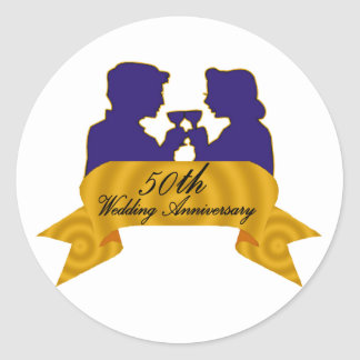50th wedding anniversary 2t stickers