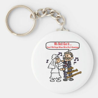 50th wedding anniversary 6t basic round button key ring