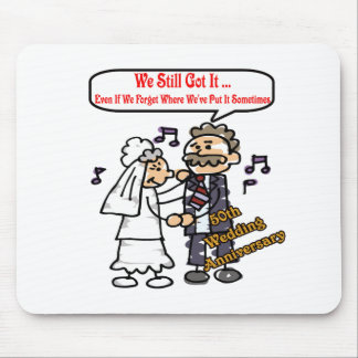 50th wedding anniversary 6t mouse pad