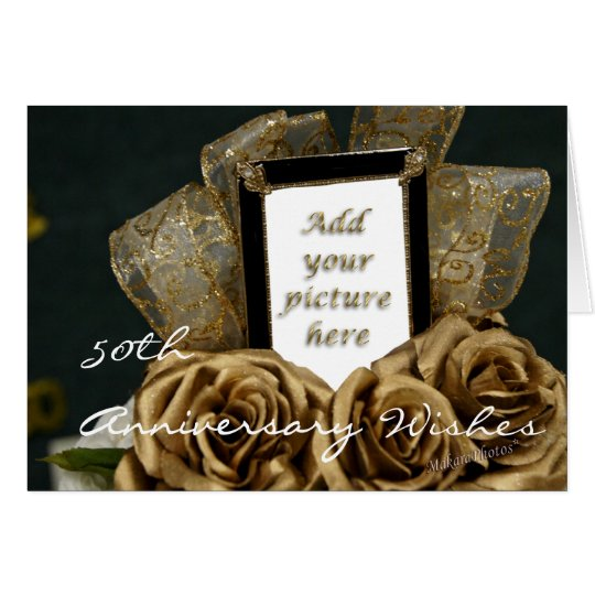 50th Wedding Anniversary Card-customise Card